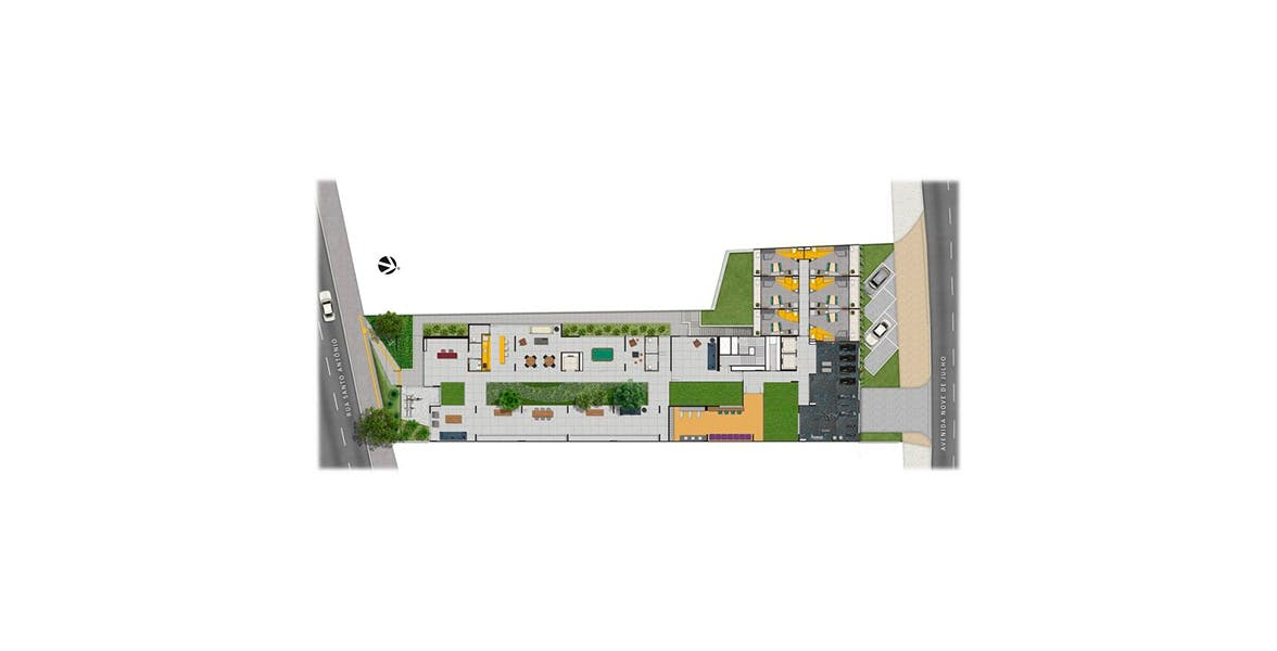 Planta do BKS Santo Antônio. floorplan