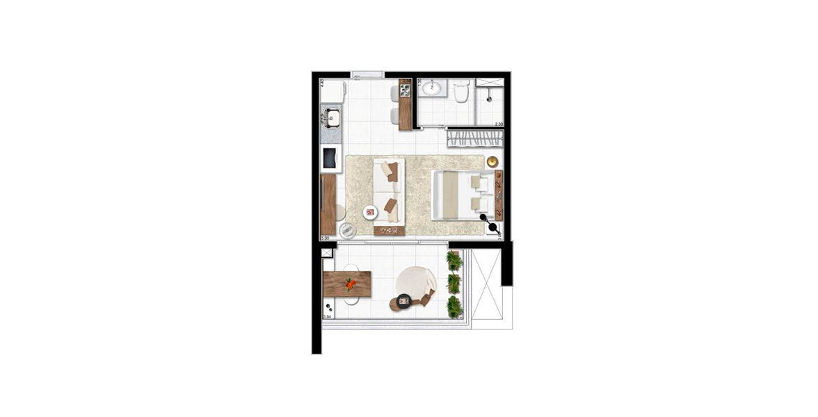 Planta do Viaza 400 Campo Belo. floorplan