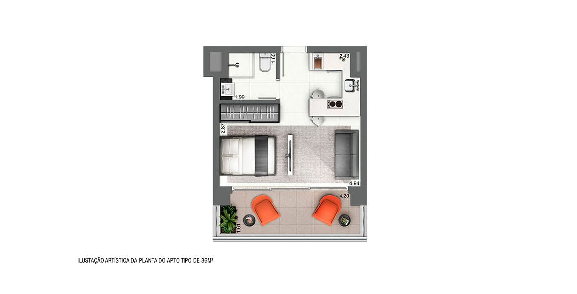 Planta do VHouse. floorplan