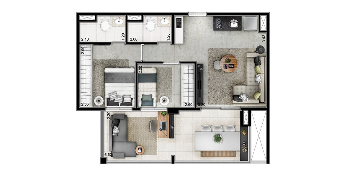 Planta do You, Jardim Paulista. floorplan