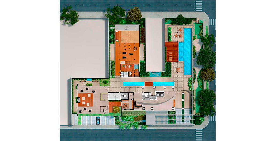 Planta do Marquise Ibirapuera. floorplan