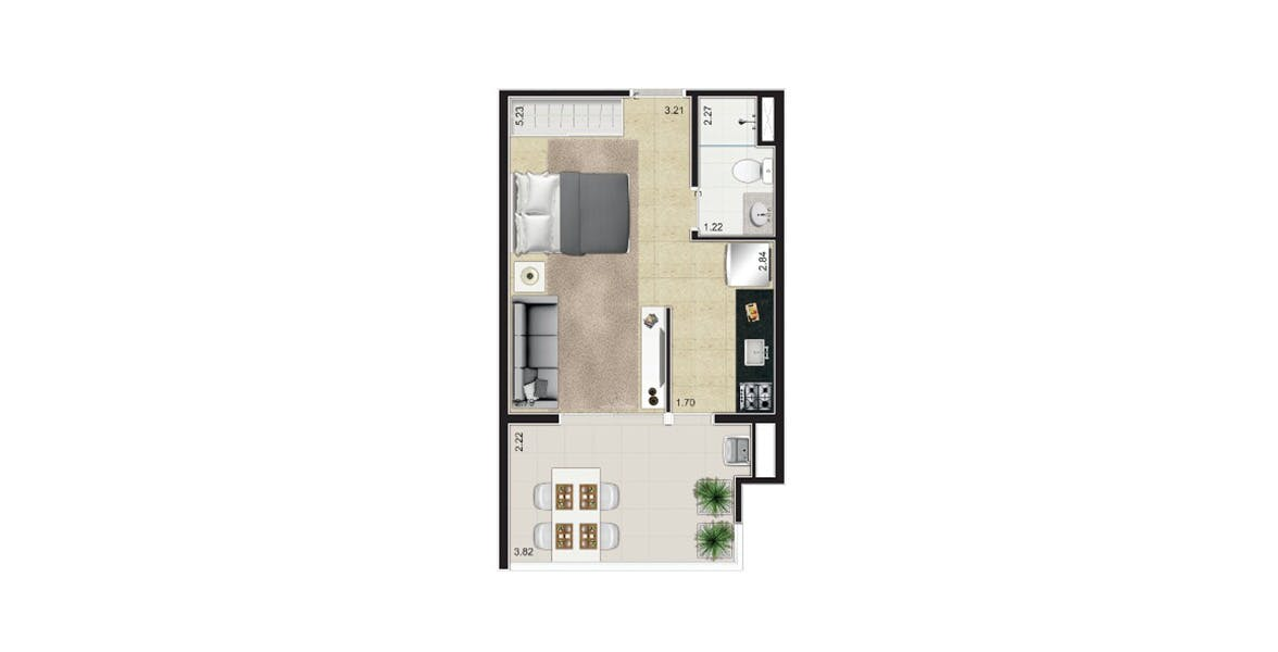 Planta do Wish Moema. floorplan