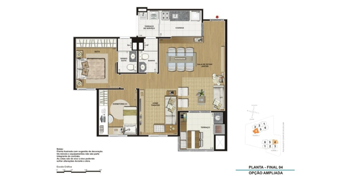 Planta do Clip Design. floorplan