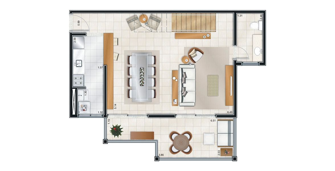 Planta do Smile Village Monte Alegre. floorplan