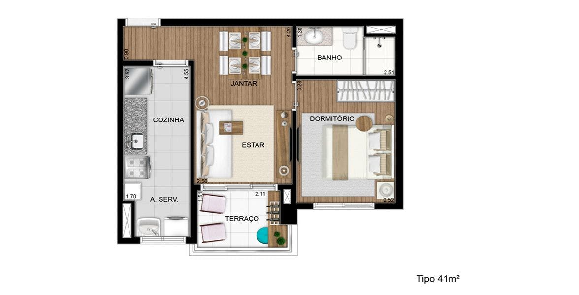 Planta do Square Osasco. floorplan