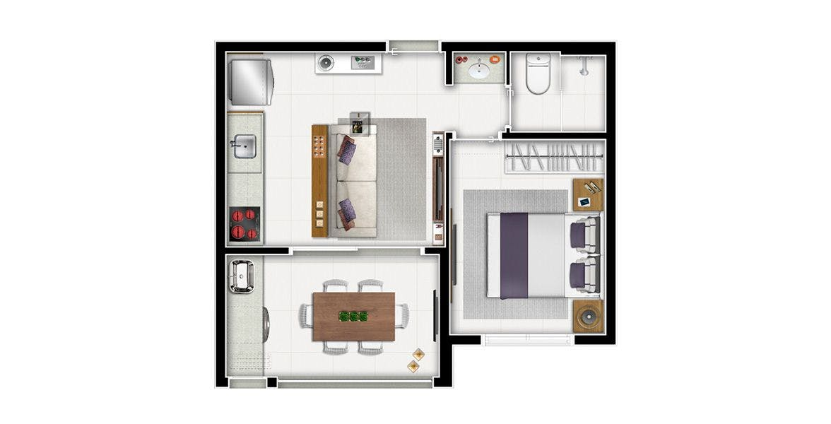 Planta do Authentic Madalena. floorplan
