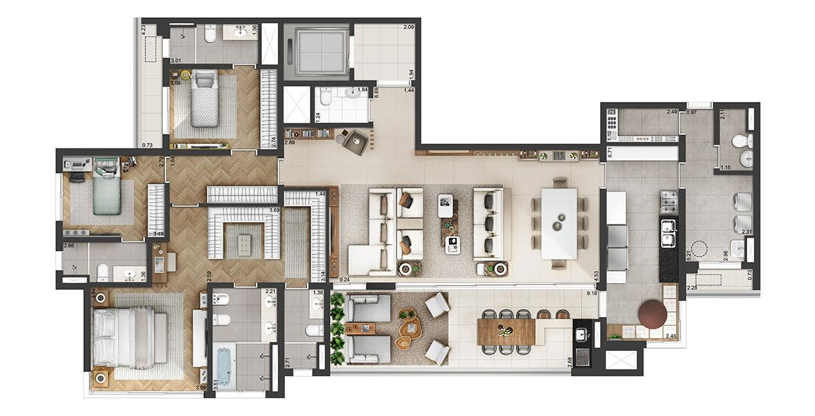 Planta do Atria Alphaville. floorplan