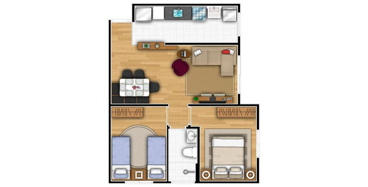 Planta do Habitá Osasco. floorplan