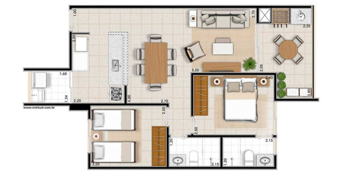 Planta do Costa do Sol. floorplan