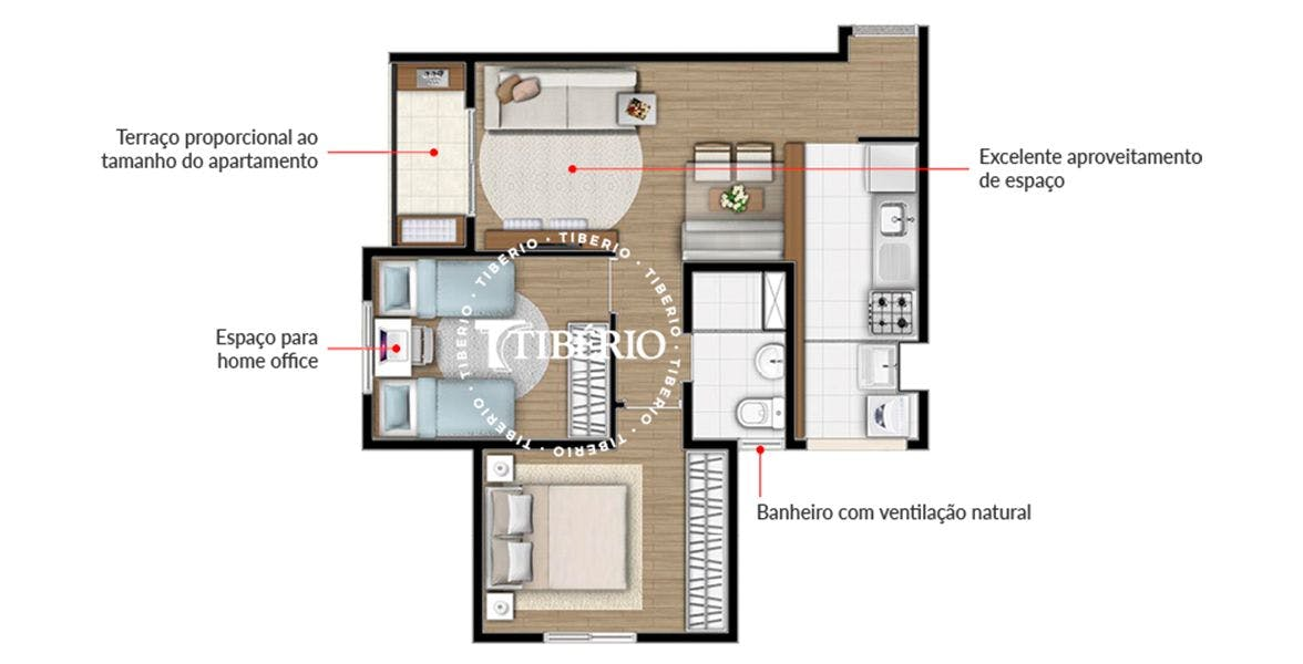 Planta do Follow Santo André. floorplan
