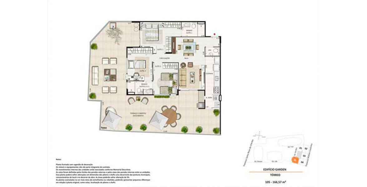 Planta do All Family Condominium Club. floorplan
