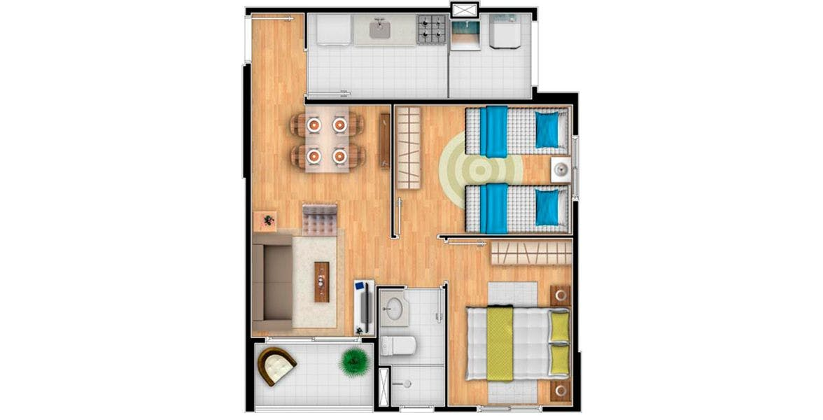 Planta do Spazio Michelangelo. floorplan