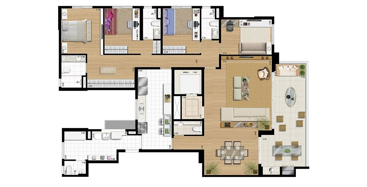Planta do Domo Prime. floorplan