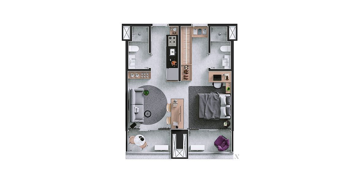 Planta do Almagah 227. floorplan
