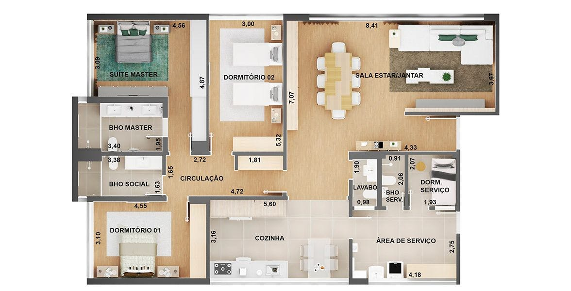 Planta do Edifício Village. floorplan