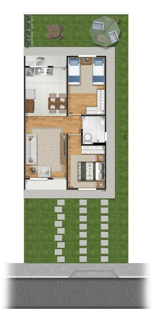 Planta do Reserva Nova Atibaia. floorplan