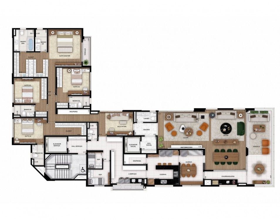 Planta do Itahy. floorplan