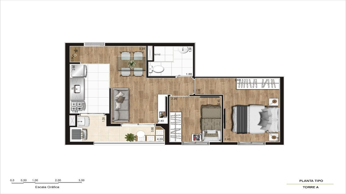 Planta do E/life Mandaqui. floorplan