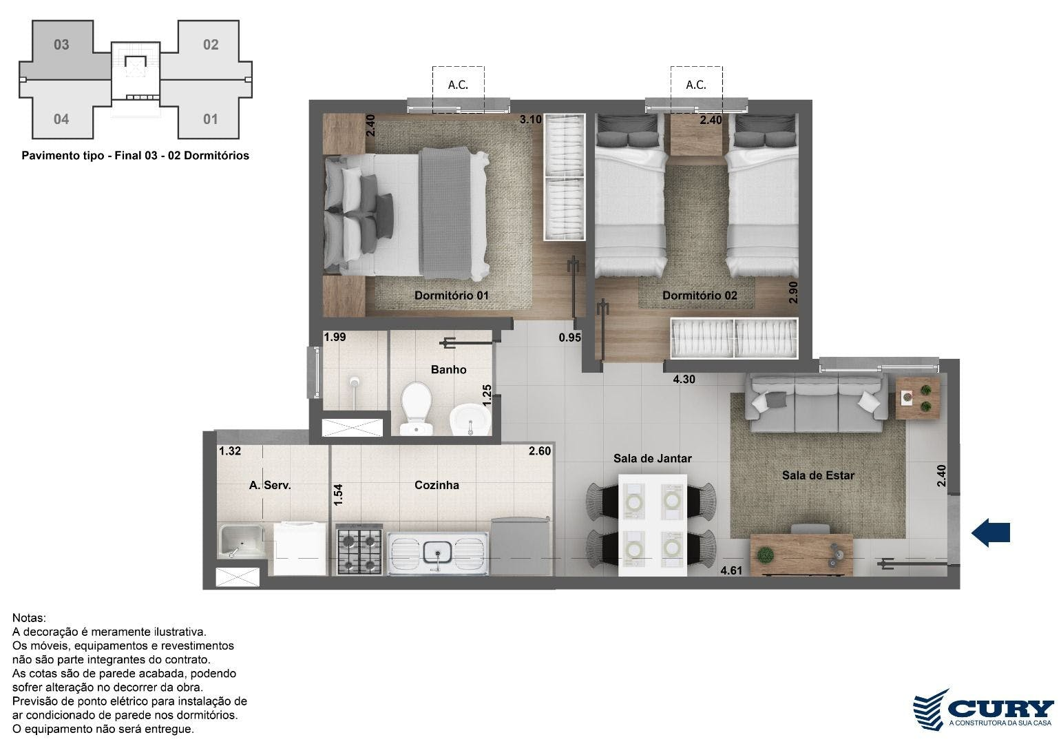 Planta do Completo Piedade. floorplan