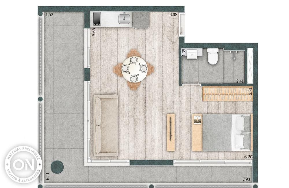 Planta do Chez VN. floorplan