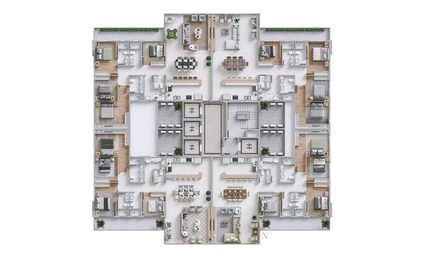 Planta do Horizon Residence. floorplan