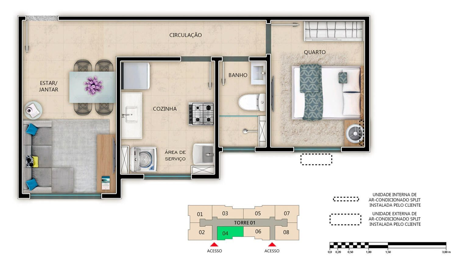 Planta do San Vincenzo. floorplan