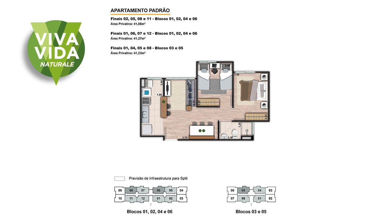 Planta do Viva Vida Naturale. floorplan