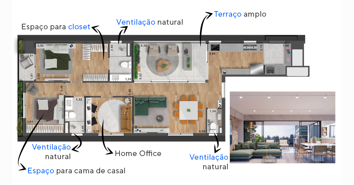 Planta do Lisboa 142. floorplan
