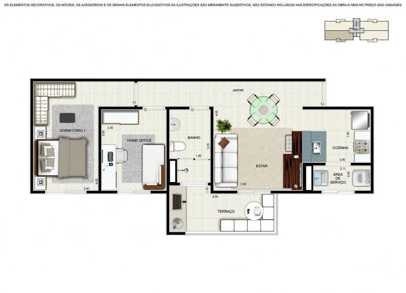 Planta do Vivarte Alamedas. floorplan