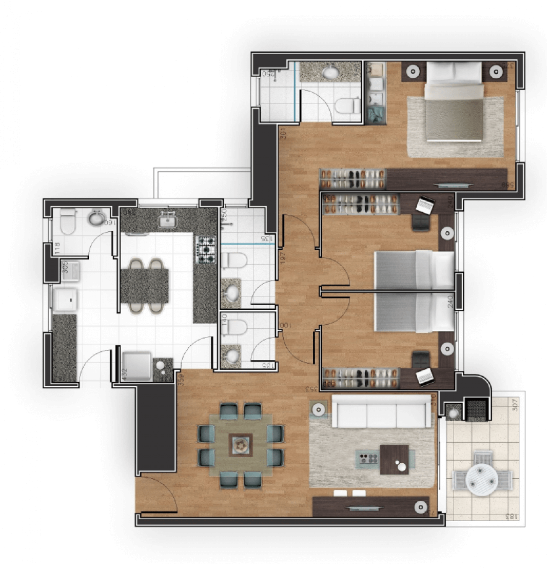 Planta do Terrasse Normandie. floorplan