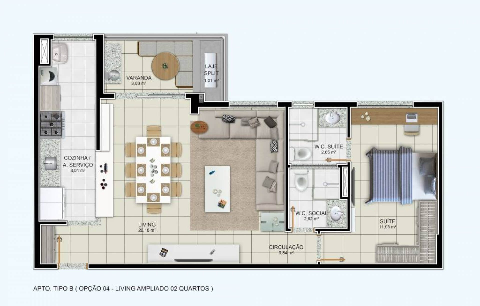 Planta do Easy Luzia. floorplan