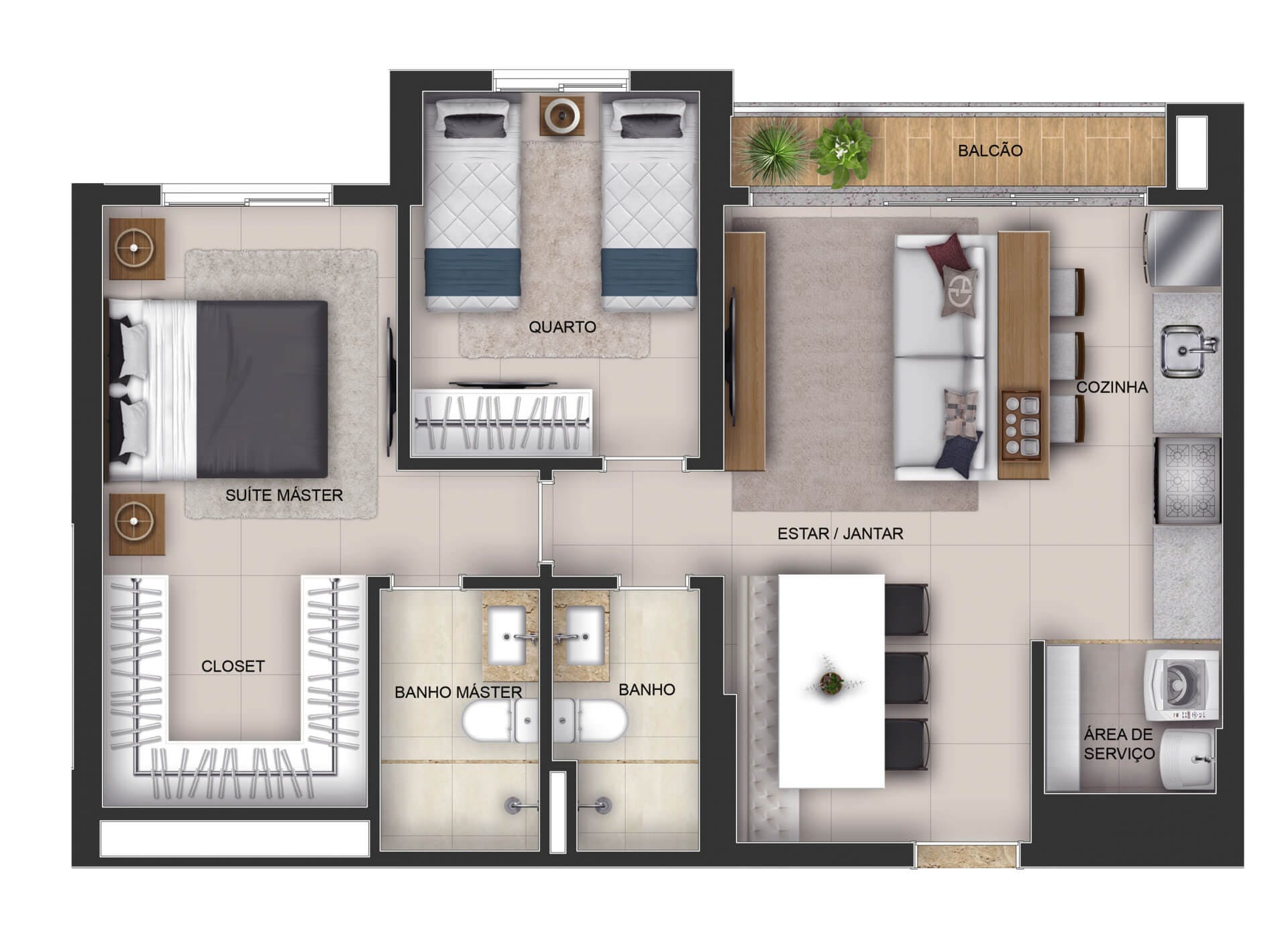 Planta do Elev Marista Design. floorplan