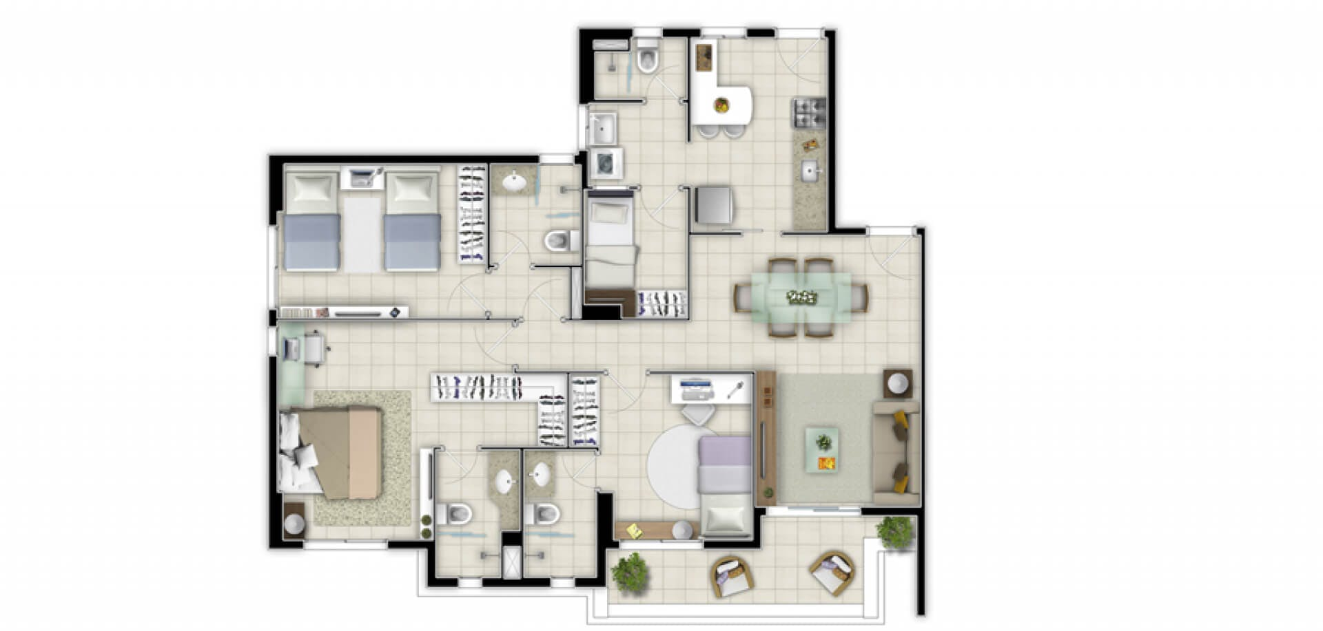 Planta do Bacara. floorplan