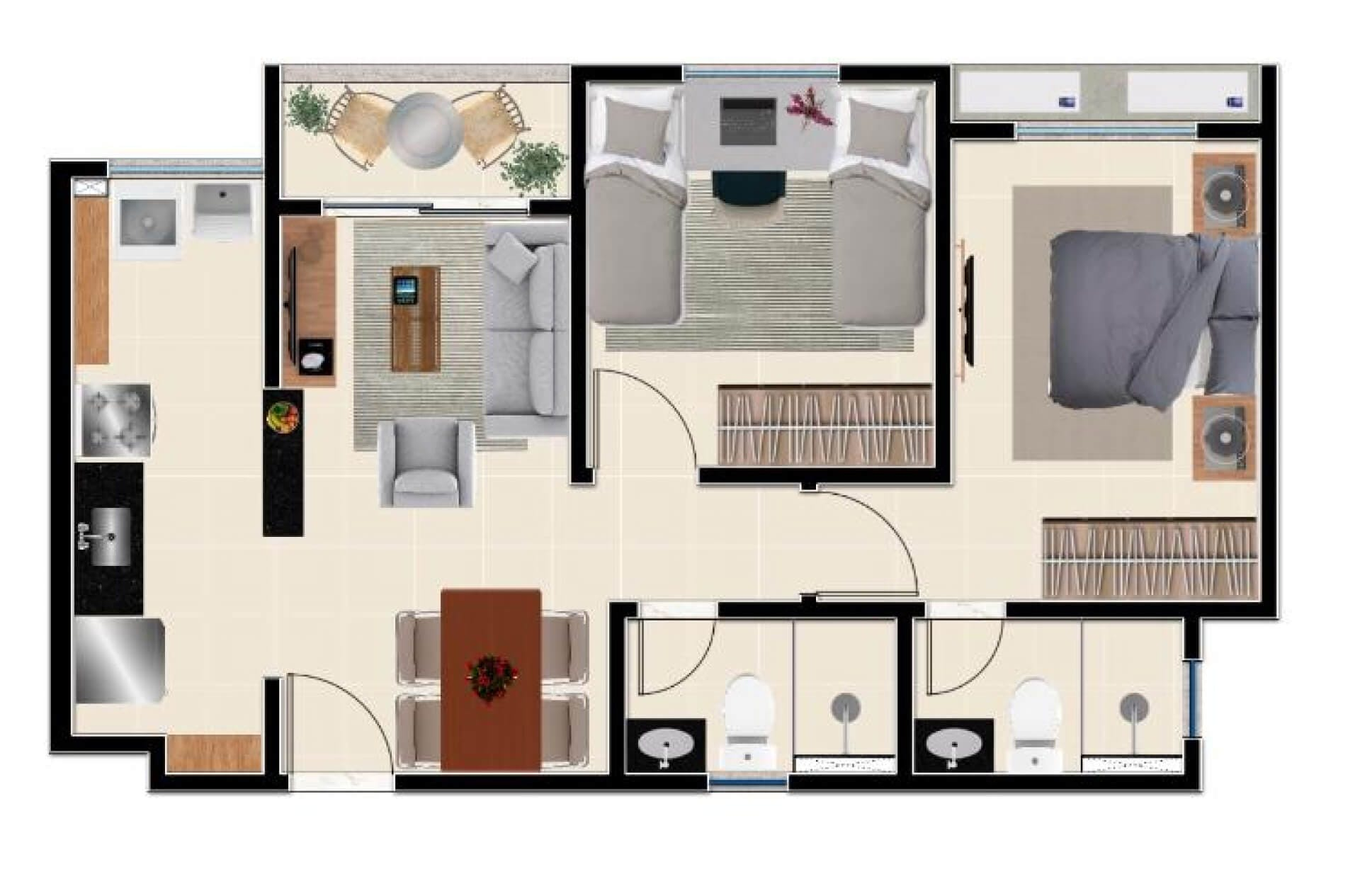 Planta do Carmel Residence. floorplan