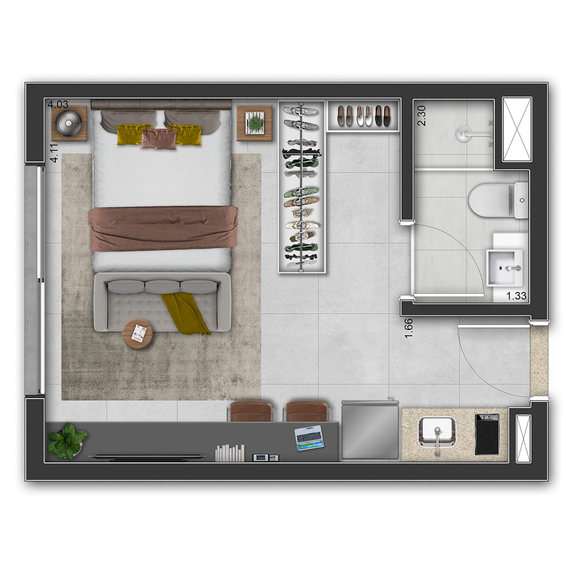 Planta do D. Stay Ibirapuera. floorplan