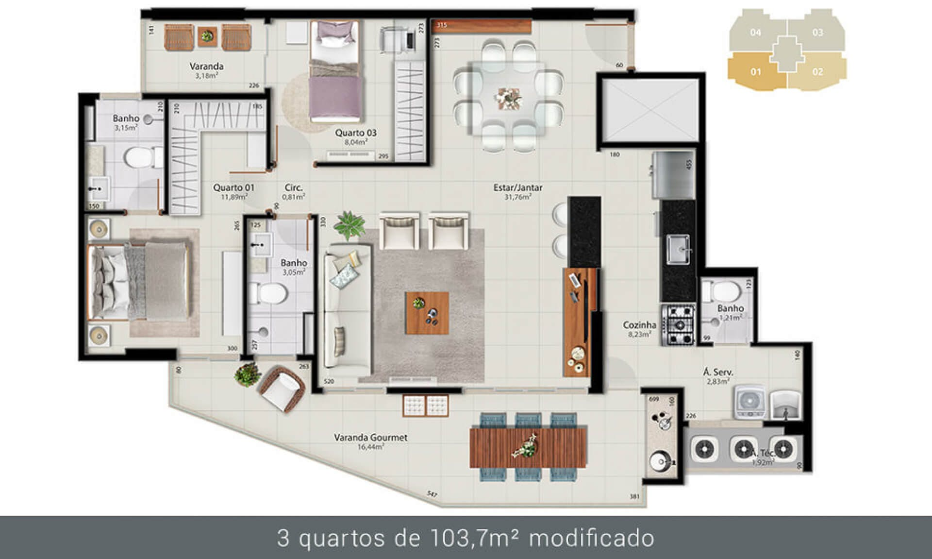 Planta do Spazio Moreira Lima. floorplan